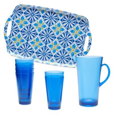 Certified International Mediterranean 8-Piece Beverage Set