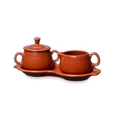 Fiesta® Sugar and Creamer Set with Tray in Paprika