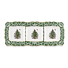 Spode® Christmas Tree Embossed 3-Section Dish