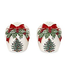 Spode® Christmas Tree Ribbons Salt & Pepper Set