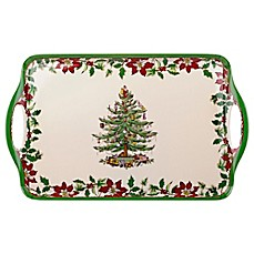 Spode® Christmas Tree Large Handled Tray