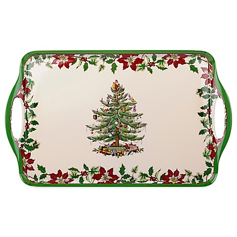 Spoder christmas tree large handled tray bed bath beyond for Christmas tree tray floor