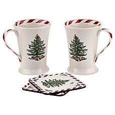 Spode® Christmas Tree 10 oz. Peppermint Mug Set of 2