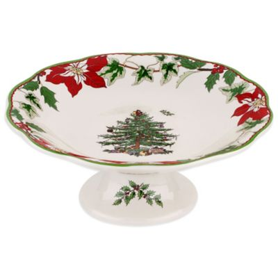 Spode® Christmas Tree Footed Candy Dish