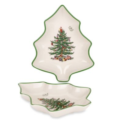 Spode® Christmas Tree 6-Inch Tree Shaped Dish (Set of 2)