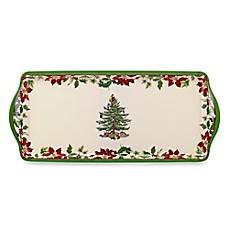 Spode® Christmas Tree Handled Sandwich Tray