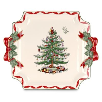 Spode® Christmas Tree Ribbons Square Platter