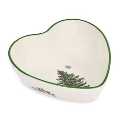 Spode® Christmas Tree Heart-Shaped Dip Bowl
