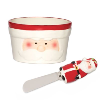 Pfaltzgraff® Holiday Santa Dip Bowl & Spreader