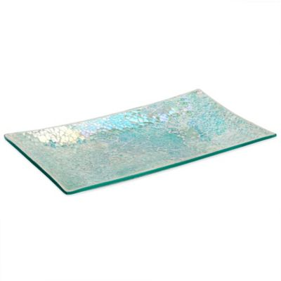 Aurora Mosaic Glass Guest Towel Tray