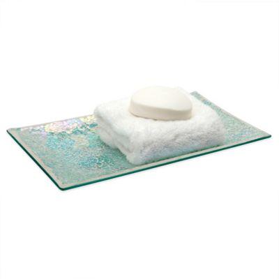 Aurora Mosaic Glass Vanity Tray
