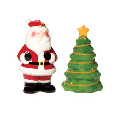 Pfaltzgraff® Holiday Santa and Christmas Tree Salt & Pepper Set