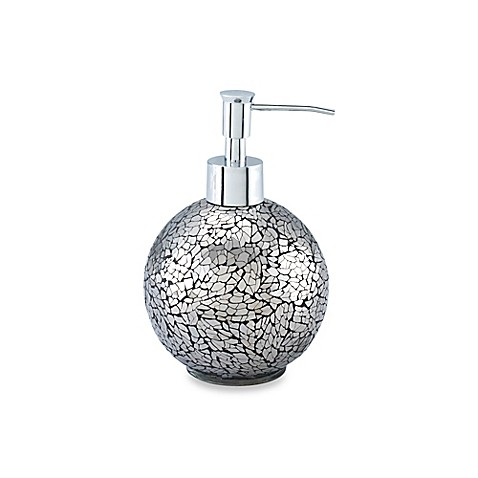 Black crackle lotion dispenser for Black crackle bathroom accessories