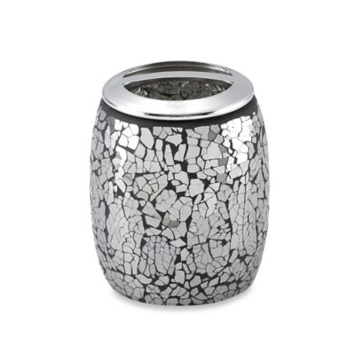 Black Crackle Toothbrush Holder