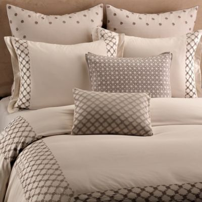 Vera Wang Embroidered Lattice Standard Pillow Sham