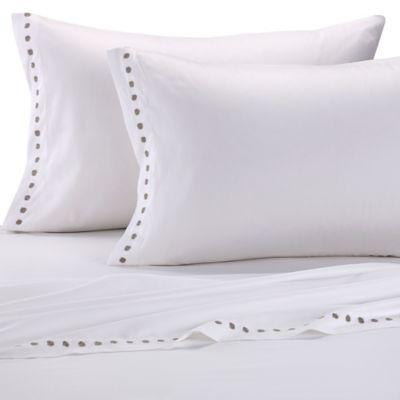 Vera Wang Embroidered Lattice King Flat Sheet