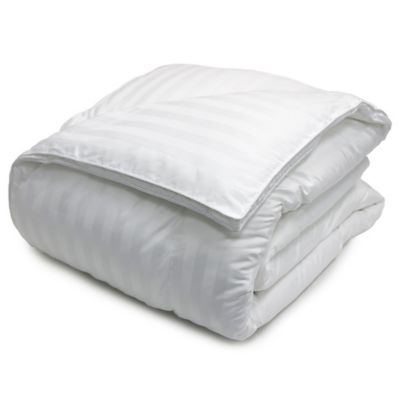 Damask Stripe 500 Thread Count King Down Alternative Comforter