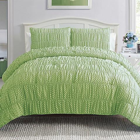 polka dot reversible twin comforter set bed bath beyond. Black Bedroom Furniture Sets. Home Design Ideas