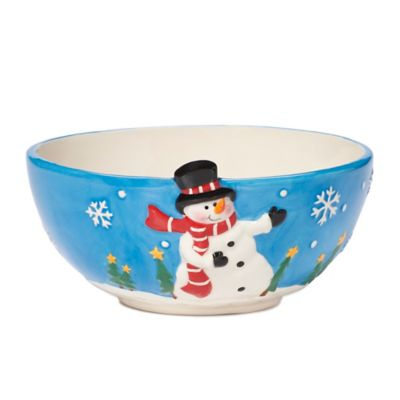 Pfaltzgraff® 6-Inch Holiday Snowman Embossed Bowl