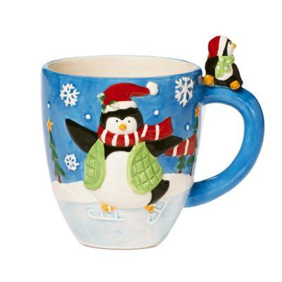 Pfaltzgraff® Holiday Penguin Figural Mug