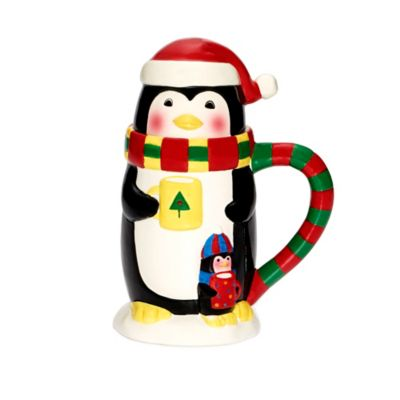 Pfaltzgraff® Holiday Penguin Covered Mug