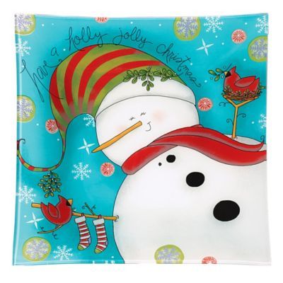 Pfaltzgraff® Holiday Cheer Snowman Square Platter