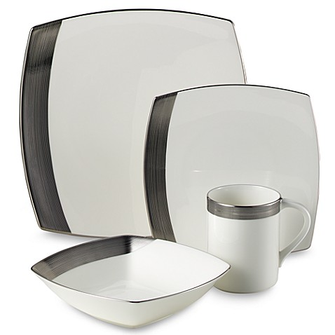 Mikasa® Ridge Square Platinum 4-Piece Place Setting
