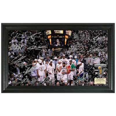 NBA San Antonio Spurs 2014 Finals Champions Celebration Signature Court Photo Frame