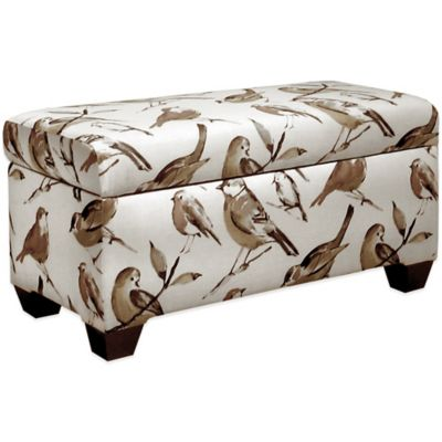 Skyline Furniture Storage Bench in Birdwatcher Charcoal