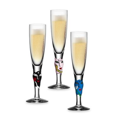 Blue Champagne Glasses & Flutes