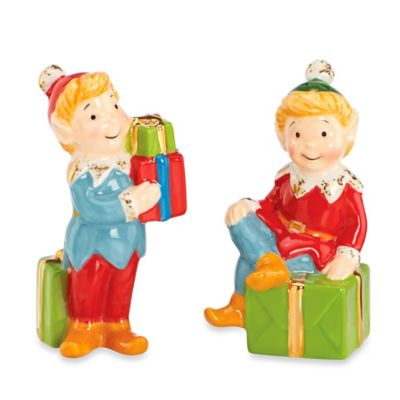 Kathy Ireland Home® by Gorham Once Upon a Christmas Elf Salt & Pepper Shakers