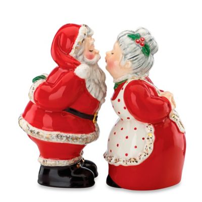 Kathy Ireland Home® by Gorham Once Upon a Christmas Santa and Mrs. Claus Salt & Pepper Shakers