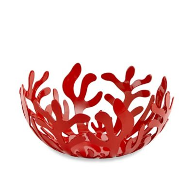 Alessi Mediterraneo 8.25-Inch Small Fruit Bowl in Red