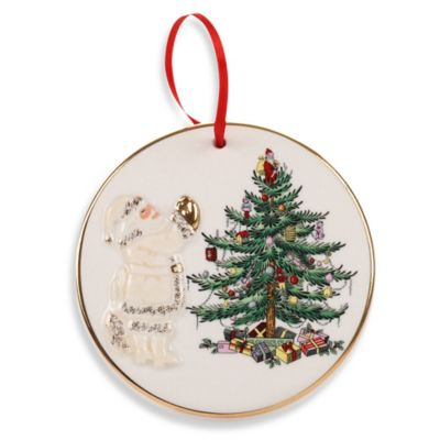 Spode® Christmas Tree Gold Santa Ornament