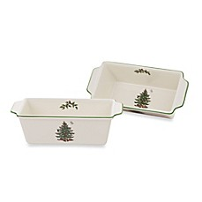 Spode® Christmas Tree Loaf Pan (Set of 2)