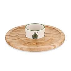 Spode® Christmas Tree Chip and Dip Set