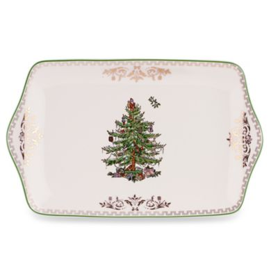 Spode® Christmas Tree Gold 12-Inch Dessert Tray
