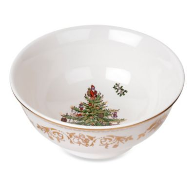 Dishwasher Safe Gold Bowl