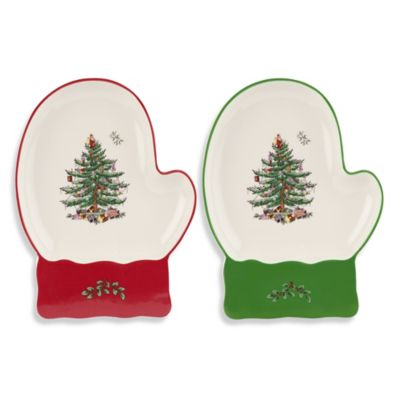 Spode® Christmas Tree Mitten Dish (Set of 2)