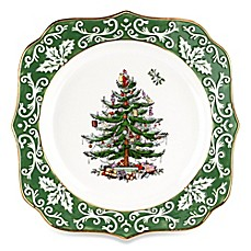 Spode® Christmas Tree Embossed 10-Inch Scalloped Plate