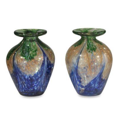 Dale Tiffany™ Mini Vase in Blue (Set of 2)