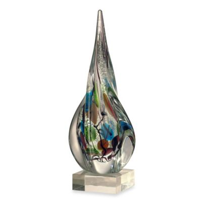 Dale Tiffany™ Teardrop Art Glass Sculpture