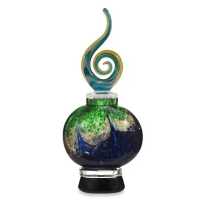 Dale Tiffany™ Art Glass Perfume Bottle in Cobalt Blue