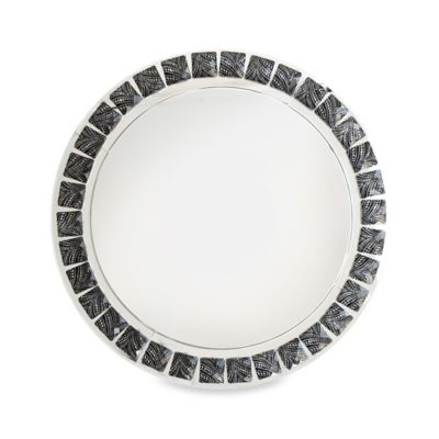 Black Beaded 13-Inch Charger Plates (Set of 4)