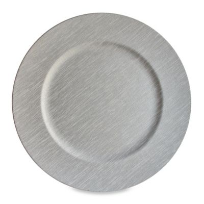 Grey 13-Inch Charger Plates (Set of 4)