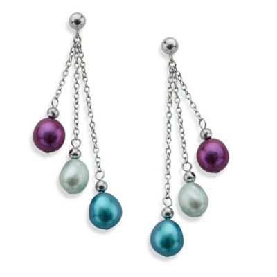 Honora Sterling Silver Freshwater Cultured Pearl Baroque Pearl Jam Dangle Earrings