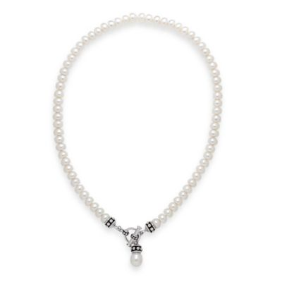 Honora Sterling Silver Freshwater Cultured Pearl 17-Inch Strand Toggle Necklace