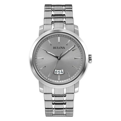 Bulova Classic Collection 40mm Grey Dial Watch in Stainless Steel