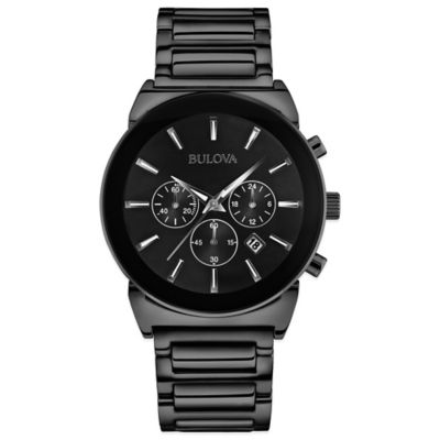 Bulova Dress Collection Men's Chronograph Watch in Black