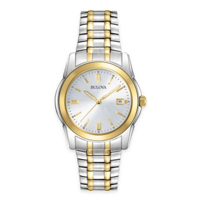 Bulova Dress Collection Men's 38mm Two-Tone Watch in Stainless Steel